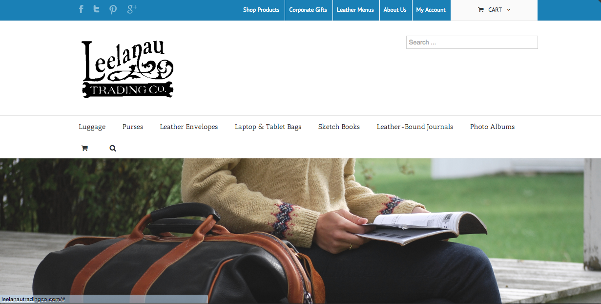 First redesign of          Leelanau Trading Co. Site